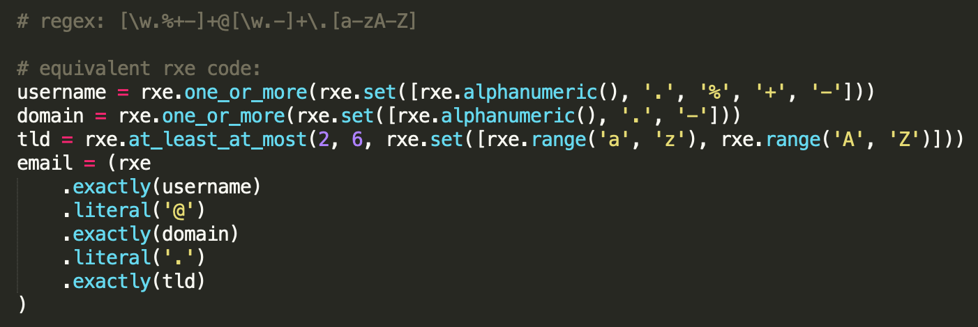 rxe example code